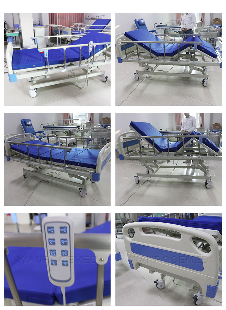 3 Functions Patient Bed, Electric Hospital Bed, Electric Patient Bed, Adjustable Electric Bed, Patient Bed