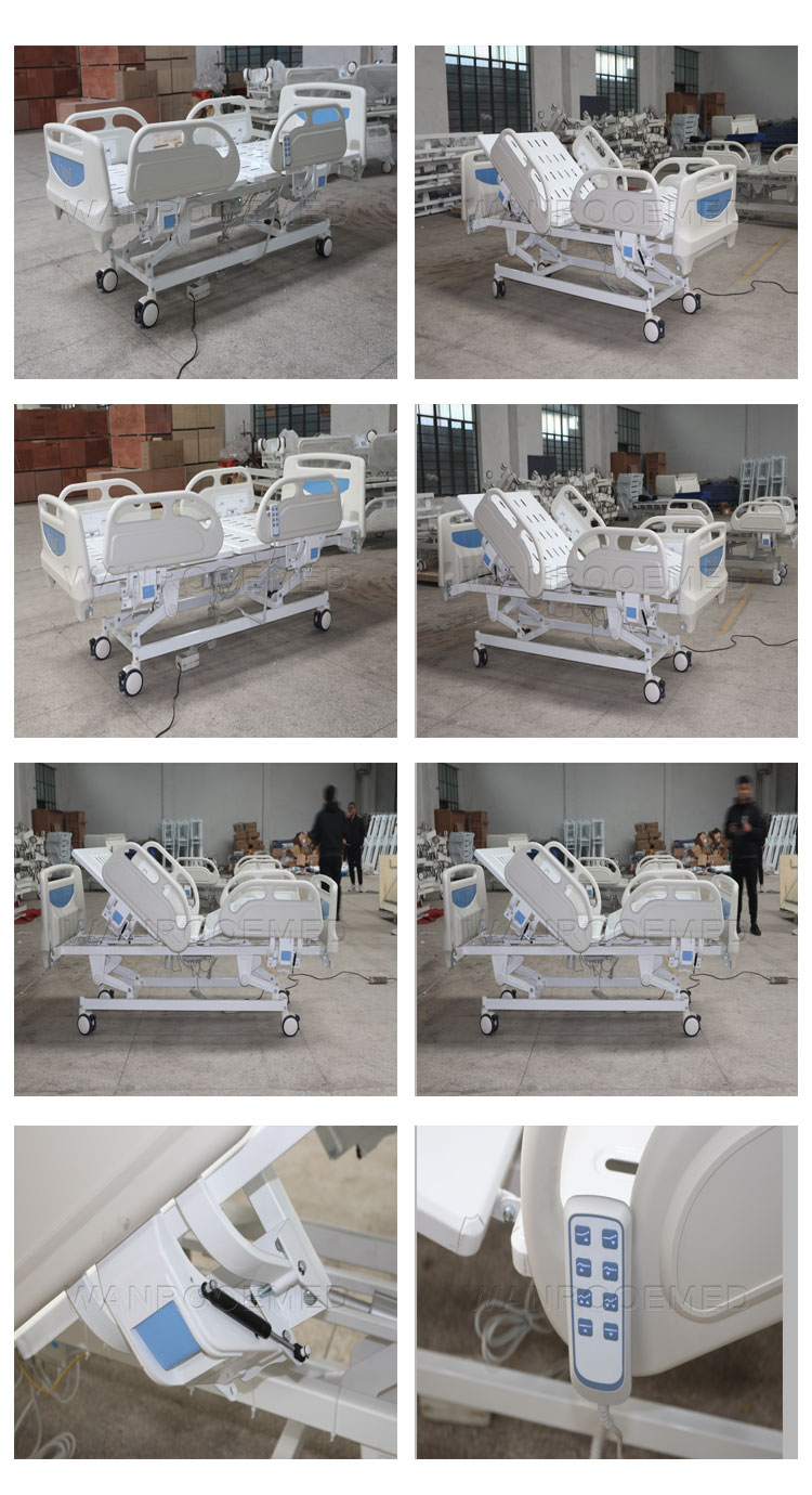 Hospital Bed With Double Side Castor, Emergency Electric Bed, Hospital Adjustable Bed, Electric Hospital Bed, 3 Function Electric Bed , Electric Hospital Bed Price