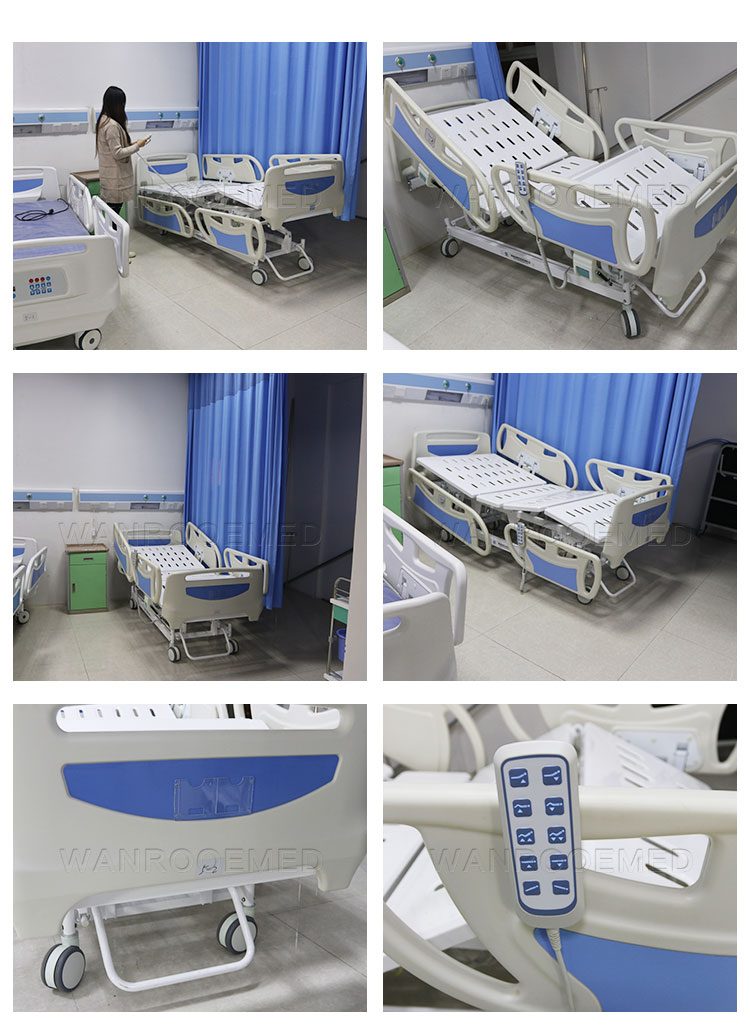 Multi-Function Electric Hospital Bed, Adjustable Patient Bed, Electric Patient Bed, Multi-Function Hospital Bed, Full Electric Bed