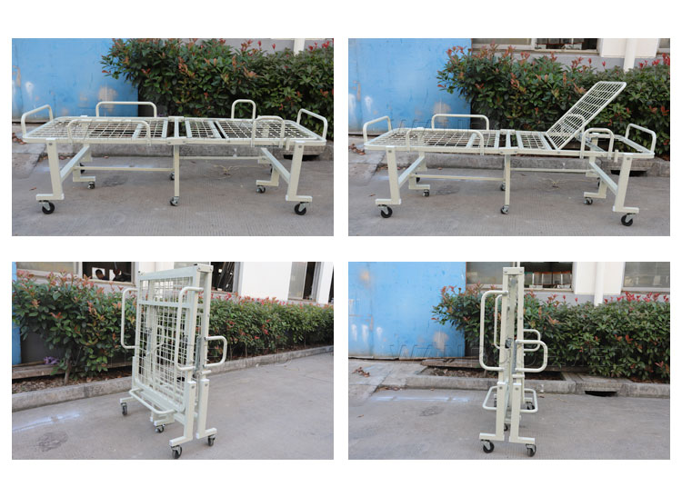 Foldable Hospital Bed, Hospital Folding Bed Price, Portable Hospital Bed, Manual Hospital Bed, Folding Patient Bed