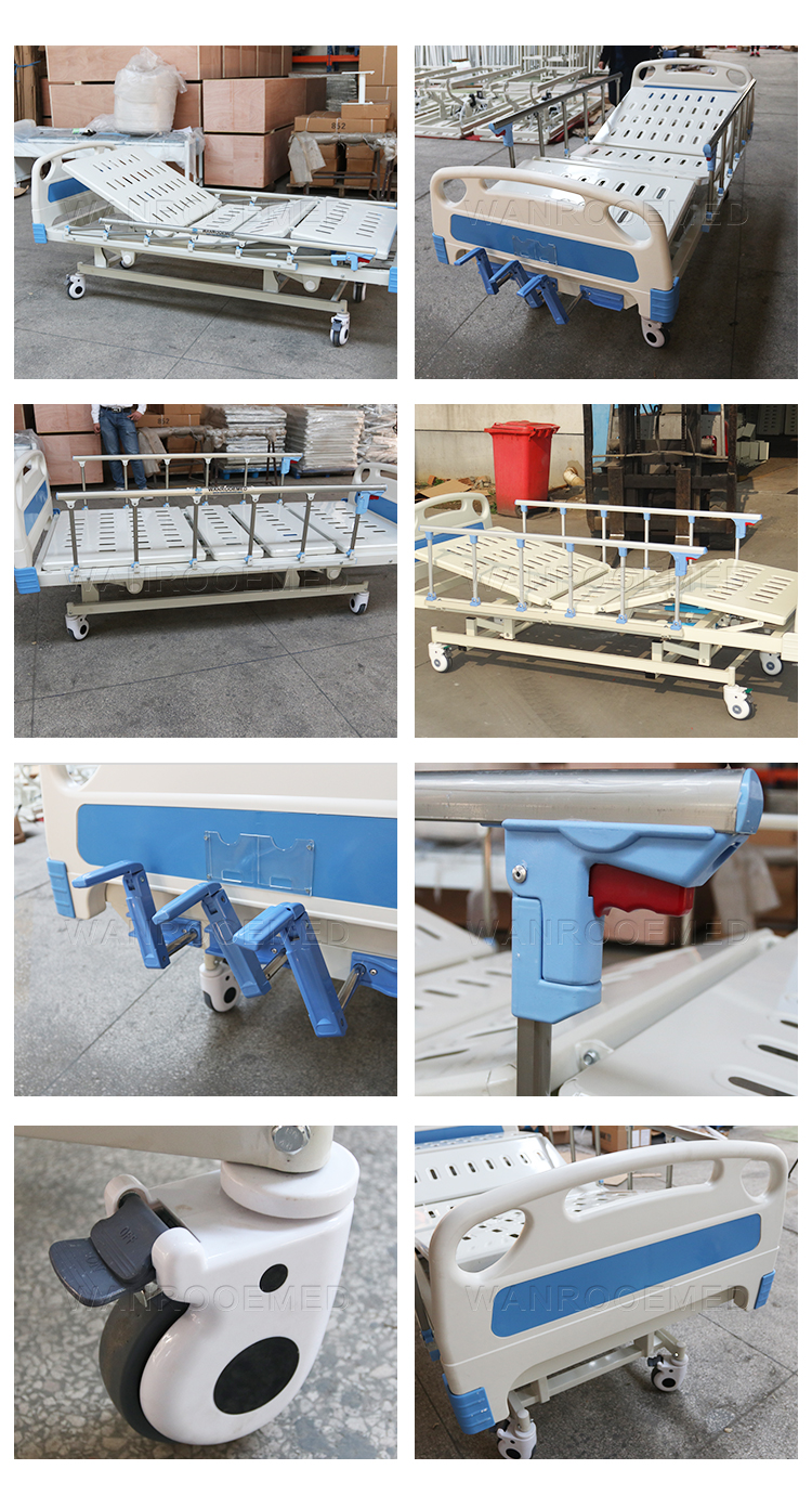 3 Cranks Hospital Bed, Three Function Medical Bed , Adjustable Hospital Bed, Three Cranks Medical Bed, Manual Patient Bed