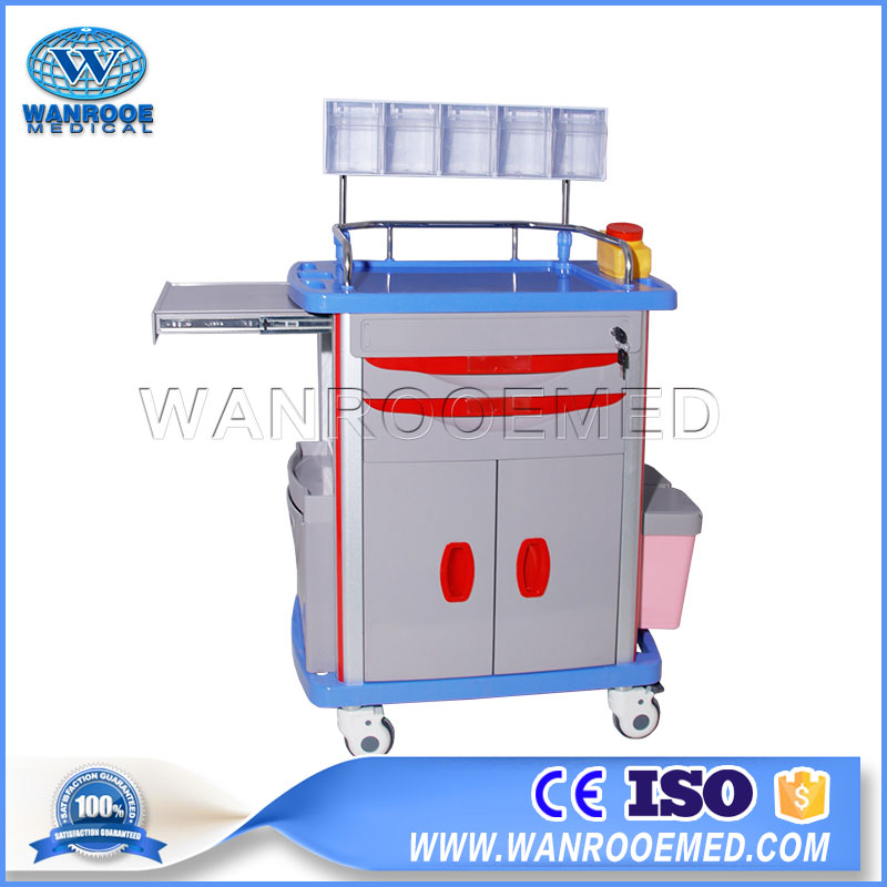 01 Series Hospital Multifunction Medical ABS Anesthesia Emergency Medicine Trolley