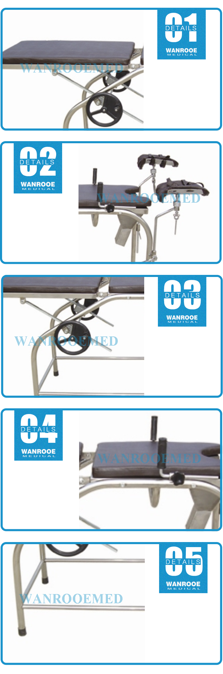 Gynecology Examination Chair, Gynecology Examination Table, Delivery Bed, Obstetric Chair, Manual Obstetrics Table