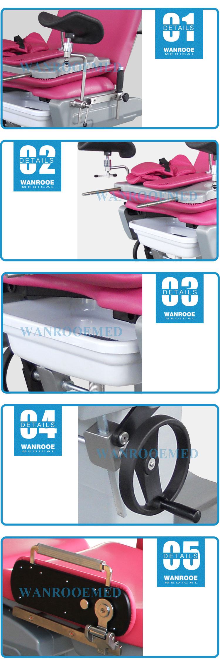 Obstetric Delivery Table, Maternity Bed, Hospital Labor Bed, Delivery Bed, Manual Delivery Table