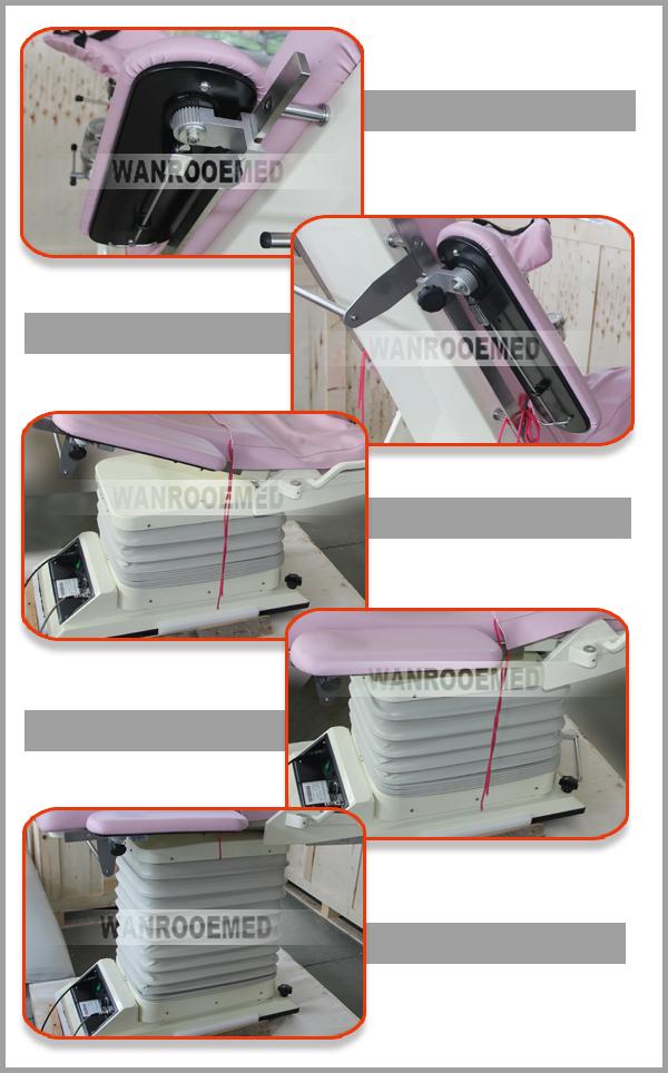 Hydraulic Gynecology Chair, Obstetrics Examination Table, Gynecological Chair, Electric Gynecological Chair, Examination Table With Lamp