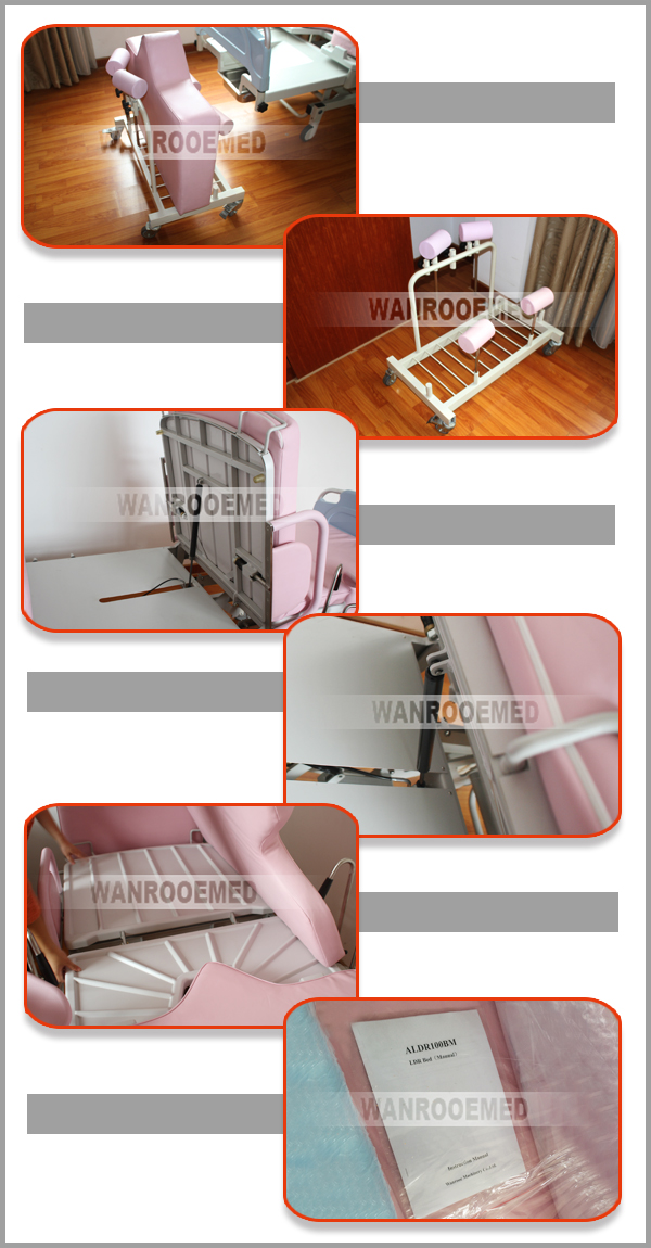 Delivery Bed, Obstetric Delivery Table, Hospital Delivery Table, Adjustable Delivery Bed, Birth Bed