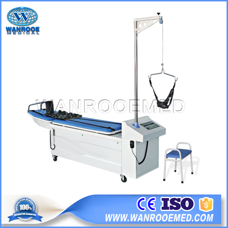 Traction Bed, Lumbar Traction Bed, Physiotherapy Rehabilitation Equipment