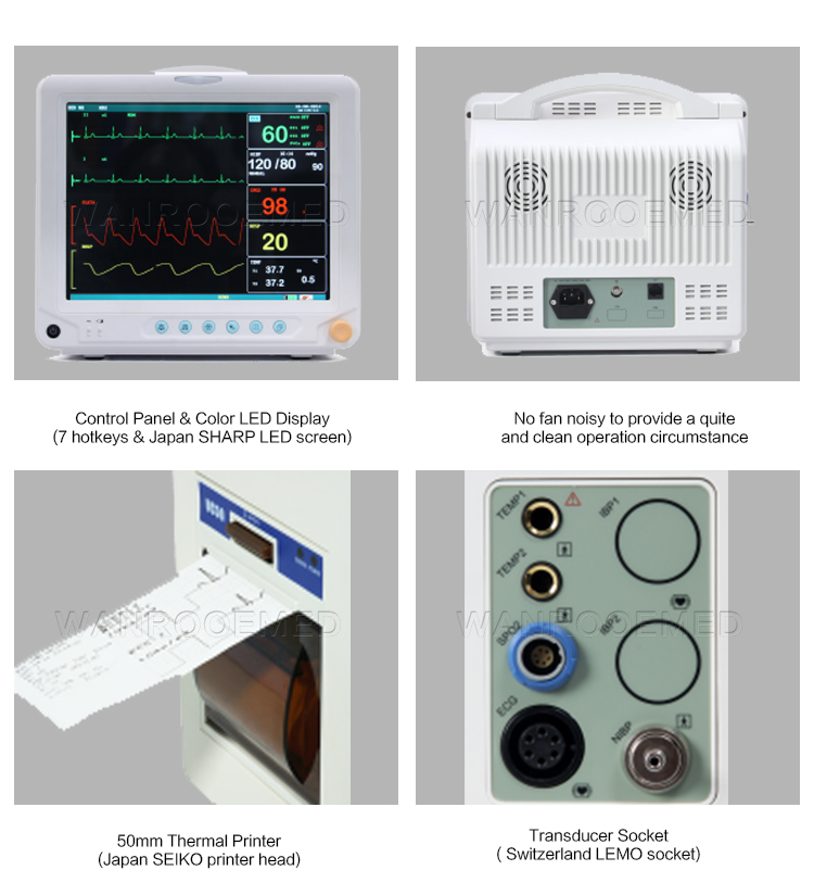 Patient Monitor, ICU Monitor, ICU Patient Monitor, Portable Monitor, Portable Patient Monitor