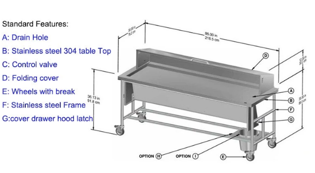 Corpse Cart Trolley, Mortuary Trolley, Mortuary Stretcher, Funeral Stretcher, Hydraulic Mortuary Trolley