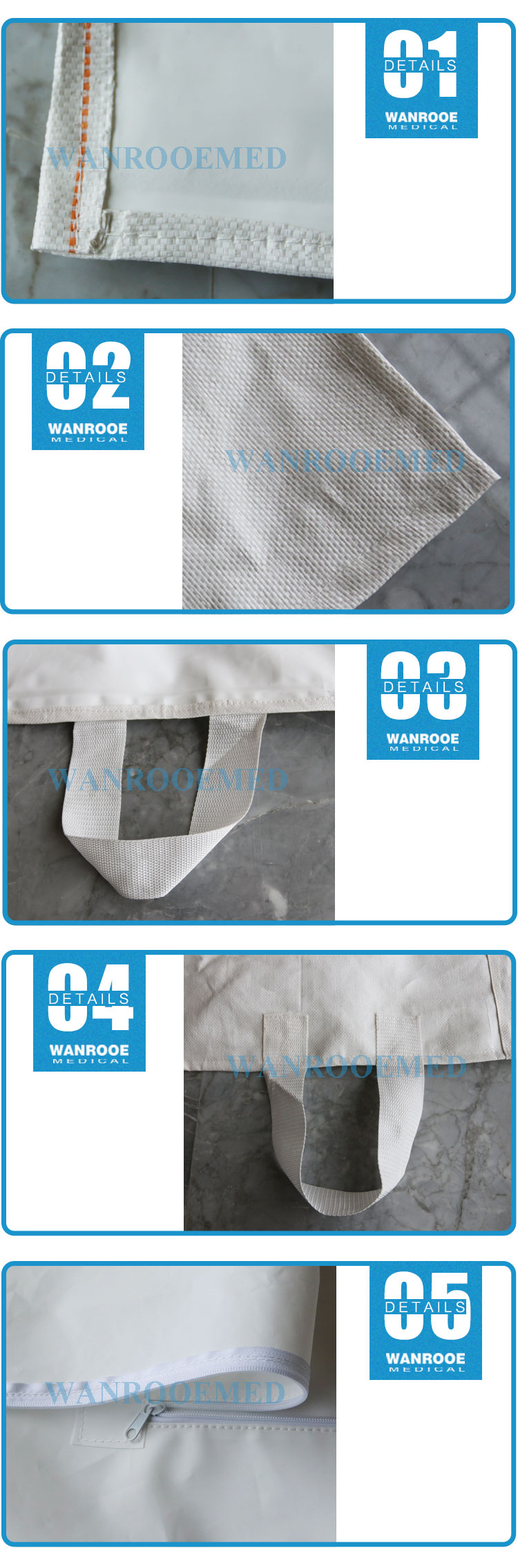 Heavy Duty Body Bag, Funeral Corpse Bag, PP PEVA Cadaver Bag, Body Bag, Corpse Bag, Three Layer Body Bag