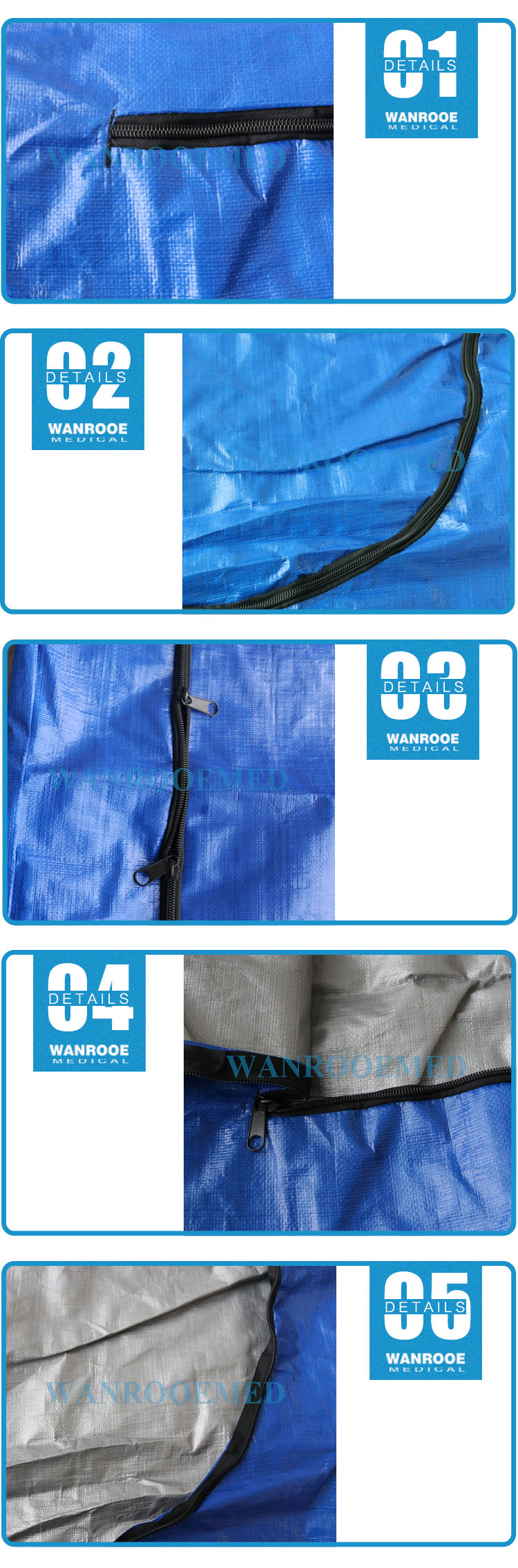 Cadaver Bag, Corpse Bag, Transport Dead Body Bag, PP PE Corpse Bag, Body Bag, Medium Duty Body Bag
