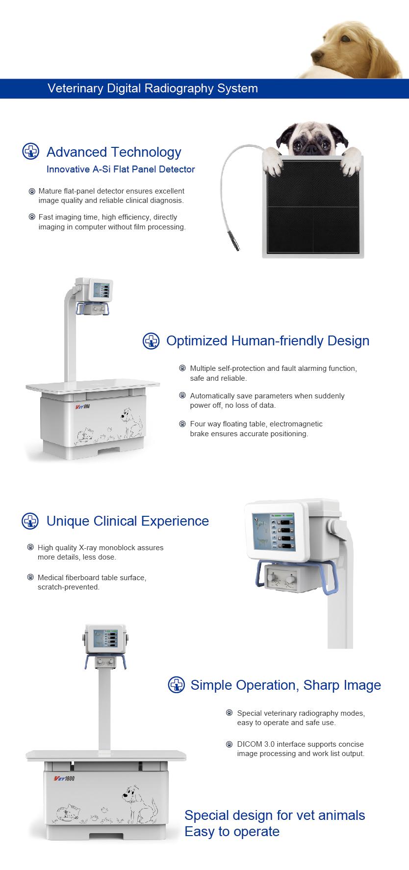 VET1600 High frequency Digital Portable Vet X Ray Machine For Cat, Dog, Sheep, Pig