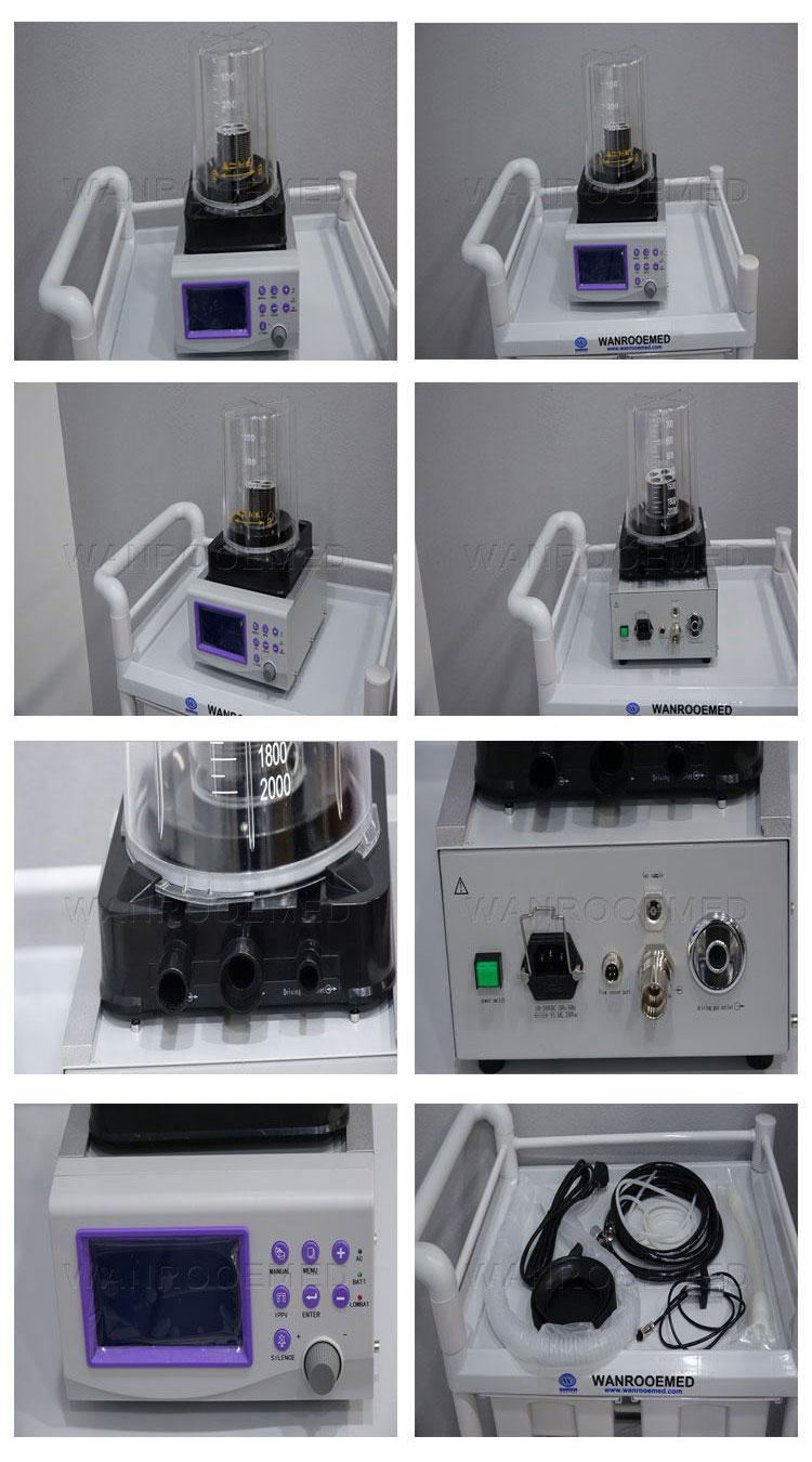 ICU Ventilator, Oxygen Respiratory Machine, Hospital Ventilator, Portable ICU Ventilator