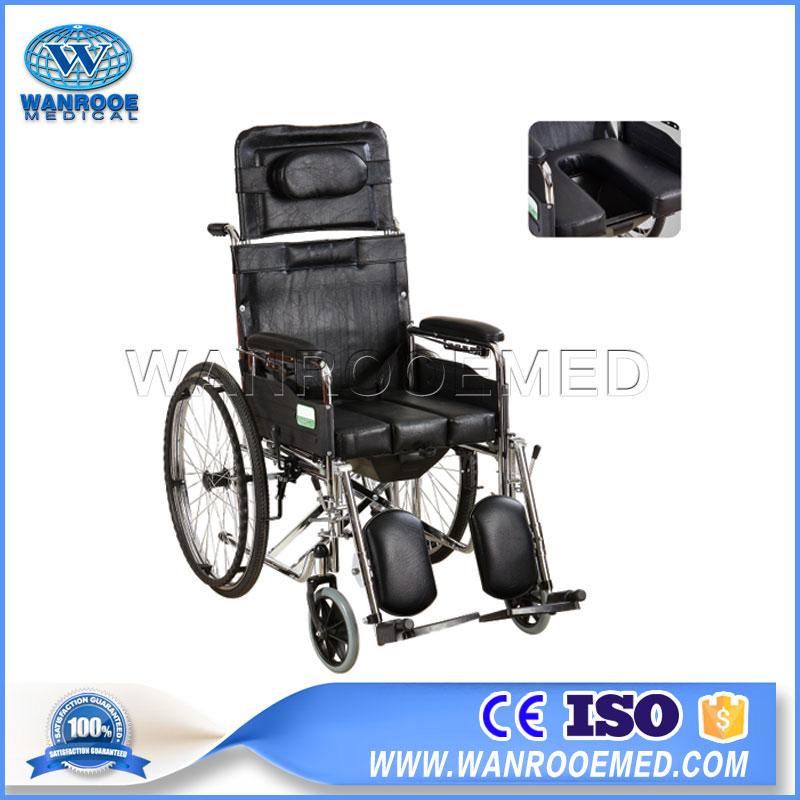 Foldable Wheelchair, Medical Equipment, Double Cross Wheelchair