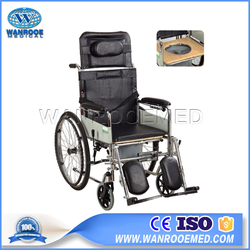 Wheelchair With Toilet, Disabled Patient Wheelchair, Manual Lightweight
