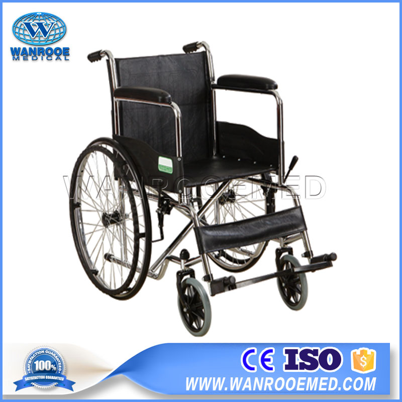 Commode Wheelchair, Disabled Elderly Wheelchair, Chromed Plating Wheelchair