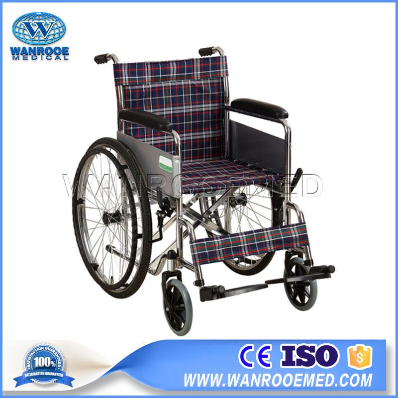 Steel Wheelchair, Manual Wheelchair, Wheelchair With Safety Belt