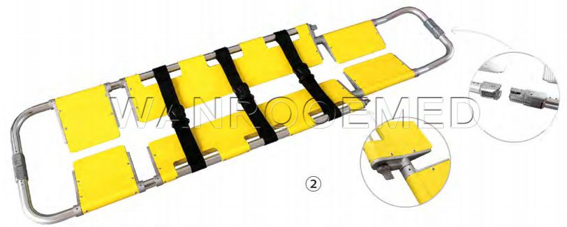 Three Foldaway Scoop Stretcher, Emergency Scoop Stretcher, Rescue Stretcher