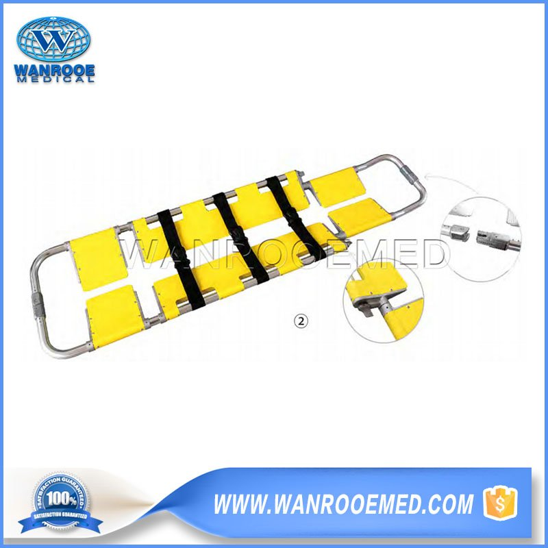 Three Foldaway Scoop Stretcher, Emergency Scoop Stretcher, Rescue Stretcher