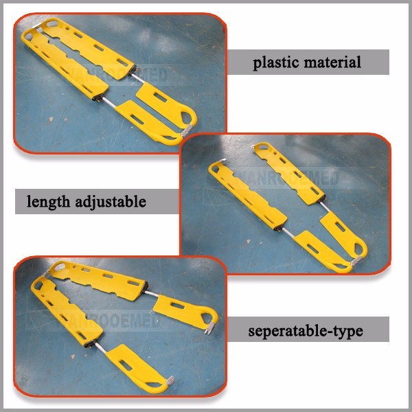 Emergency Scoop Stretcher, High Quality Stretcher, Head Immobilizer Scoop Stretcher