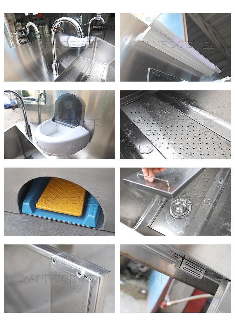 Stainless Steel Scrub Sink, Scrub Sink, Medical Scrub Sink